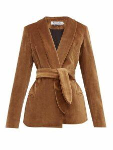 Àcheval Pampa - Tero Cotton Velvet Blazer - Womens - Brown