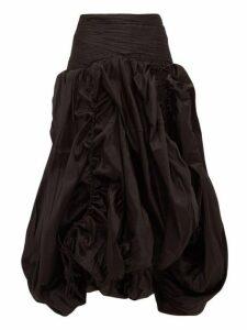Aje - Cynthia Bubble Hem Taffeta Skirt - Womens - Black