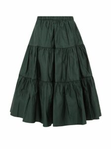 Marc Jacobs - Tiered Duchess Satin Skirt - Womens - Dark Green