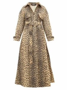 Jacquemus - Thika Leopard Print Belted Cotton Blend Coat - Womens - Leopard