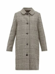 A.p.c. - Peel Single Breasted Houndstooth Wool Coat - Womens - Black White