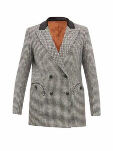 Blazé Milano - Kismet Wool Blend Houndstooth Blazer - Womens - Black Multi