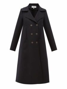 Loewe - Double Breasted Wool Blend Coat - Womens - Navy