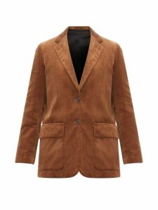 Margaret Howell - Single Breasted Cotton Corduroy Blazer - Womens - Brown