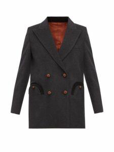 Blazé Milano - Everyday Wool Blazer - Womens - Dark Grey