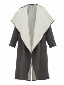 Carl Kapp - Lapetus Double Faced Wool Blend Coat - Womens - Dark Grey