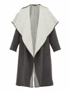 Carl Kapp - Lapetus Double Faced Wool Blend Coat - Womens - Dark Grey