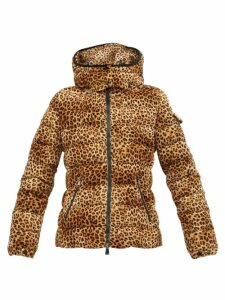 Moncler - Bady Leopard Print Quilted Down Jacket - Womens - Leopard