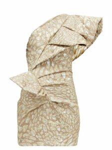 Alexandre Vauthier - Asymmetric Leopard-brocade Mini Dress - Womens - Light Pink