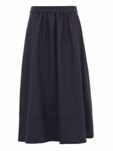 A.p.c. - Margaux Wool Midi Skirt - Womens - Navy