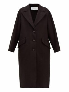 Harris Wharf London - Oversized Single Breasted Pressed Wool Coat - Womens - Black
