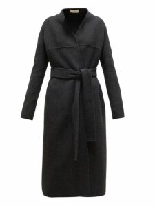 The Row - Luisa Belted Wool Blend Coat - Womens - Dark Grey