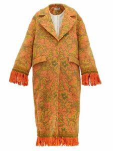 Rave Review - Lue Tasselled Vintage-jacquard Coat - Womens - Multi