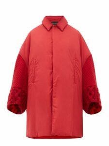 Undercover - Wool Sleeve Padded Overcoat - Womens - Red