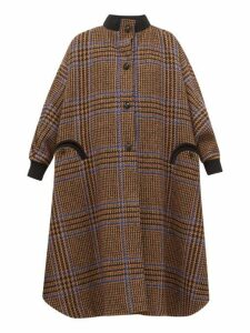 Blazé Milano - Drifter Checked Wool Blend Coat - Womens - Brown Multi