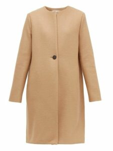 Harris Wharf London - Single Breasted Pressed Wool Coat - Womens - Camel