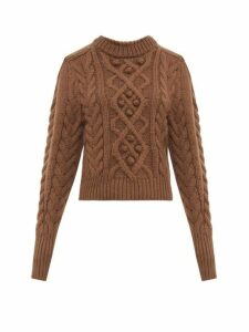 Isabel Marant - Milford Cable Knit Wool Sweater - Womens - Brown