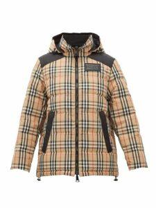 Burberry - Newbattle Reversible Vintage Check Jacket - Womens - Beige Multi