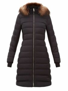 Burberry - Newbridge Faux Fur Trimmed Quilted Down Coat - Womens - Black