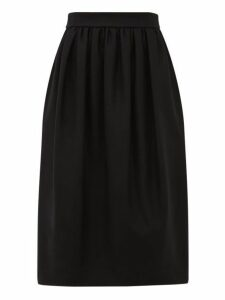 Rochas - Exposed Zip Wool Blend Felt Skirt - Womens - Black