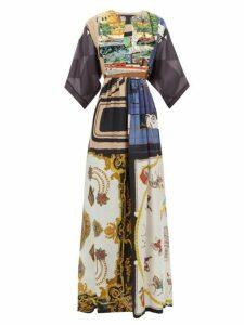 Rianna + Nina - Vintage Patchwork Silk Maxi Dress - Womens - Multi