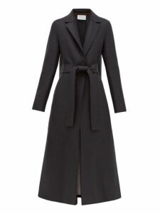 Harris Wharf London - Single Breasted Belted Wool Coat - Womens - Dark Grey