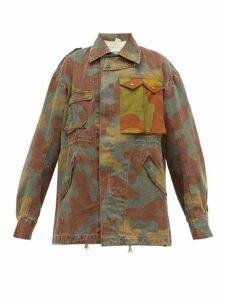 Myar - Camouflage Logo Print Cotton Jacket - Womens - Camouflage