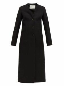 Jil Sander - Single Breasted Wool Coat - Womens - Black