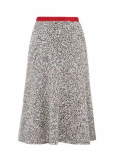 Vika Gazinskaya - Flared Knitted Midi Skirt - Womens - Grey Multi