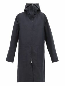 Jil Sander - Hooded Technical Raincoat - Womens - Navy