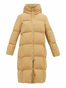 Jil Sander - City Hooded Padded Coat - Womens - Dark Beige