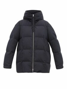 Jil Sander - City Quilted Down Hooded Coat - Womens - Navy