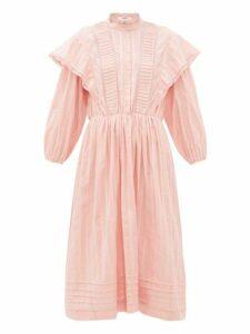 Isabel Marant Étoile - Paolina Striped Cotton Midi Dress - Womens - Pink
