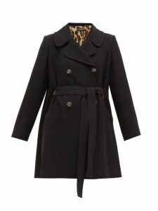 Dolce & Gabbana - Double-breasted Belted Coat - Womens - Black