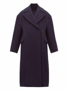 Acne Studios - Olalia Double Breasted Wool Blend Coat - Womens - Navy