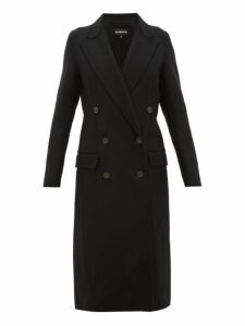Ann Demeulemeester - Cappotto Double Faced Wool Blend Coat - Womens - Black