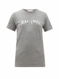 Rodarte - Heather Logo Print Jersey T Shirt - Womens - Grey Multi