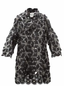 Noir Kei Ninomiya - Tulle Embroidered Evening Coat - Womens - Black