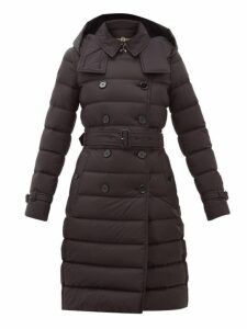 Burberry - Arniston Hooded Quilted Shell Coat - Womens - Black