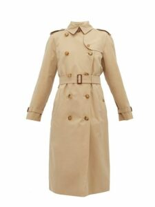 Burberry - The Waterloo Cotton Gabardine Trench Coat - Womens - Beige