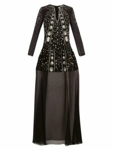 Givenchy - Crystal Embellished Wool Crepe Gown - Womens - Black Multi