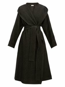 The Row - Audree Cashmere Herringbone Coat - Womens - Dark Grey