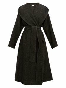 The Row - Audree Cashmere Herringbone Coat - Womens - Dark Grey