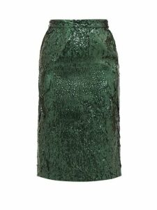 No. 21 - Sequinned Pencil Skirt - Womens - Green