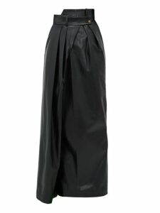 A.w.a.k.e. Mode - Pirt Asymmetric Faux Leather Skirt - Womens - Black