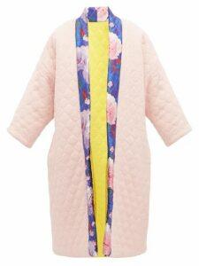 Rianna + Nina - Reversible Matelassé Wool And Silk Coat - Womens - Multi