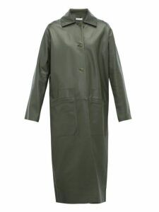 Inès & Maréchal - Famous Single-breasted Leather Coat - Womens - Dark Green