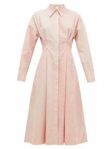 Ssone - Balance Dyed Cotton Poplin Shirtdress - Womens - Light Pink