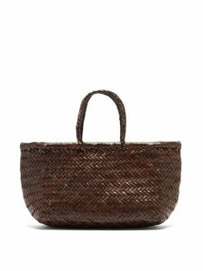 Dragon Diffusion - Triple Jump Small Leather Tote Bag - Womens - Dark Brown