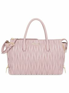 Miu Miu Leather Miu Miu Avenue Travel Bag - Pink
